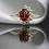 Thumbnail: טבעת כתר ספיר כתום ויהלומים