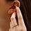 Thumbnail: עגילי ריבוע יהלומים בשיבוץ pavé