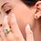 Thumbnail: טבעת אמרלד פירמידה יהלומים