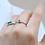 Thumbnail: טבעת אמרלד בגט 8x4 ממ ויהלומים