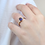 Thumbnail: טבעת ספיר ויהלומים