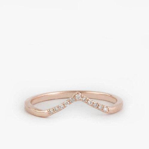 טבעת ספייק יהלומים