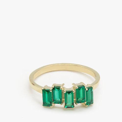 טבעת 5 אמרלדים