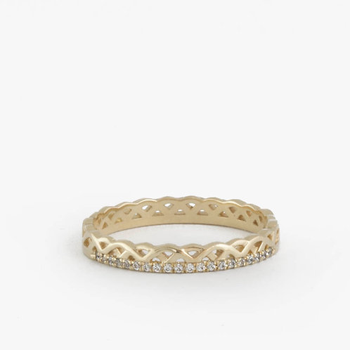 טבעת קלטית יהלומים