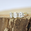 Thumbnail: טבעת 3 מוסונייט ויהלומים
