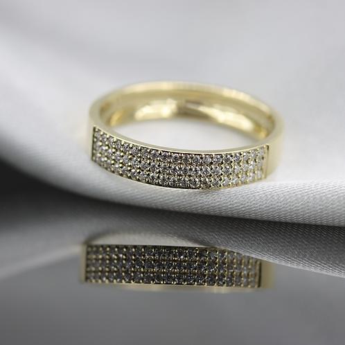 טבעת pavé חצי נצח יהלומים