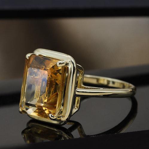 טבעת סיטרין 6.25 ct