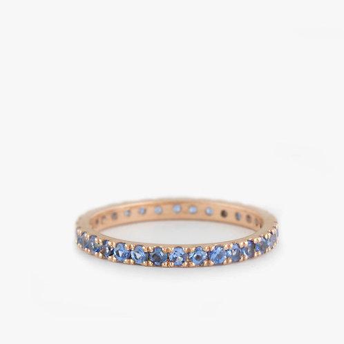 טבעת נצח בלו-טופז