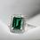 Thumbnail: טבעת אמרלד ויהלומים מלבנית