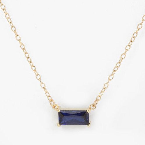 שרשרת זהב ספיר קורנדום כחול 0.83 קרט