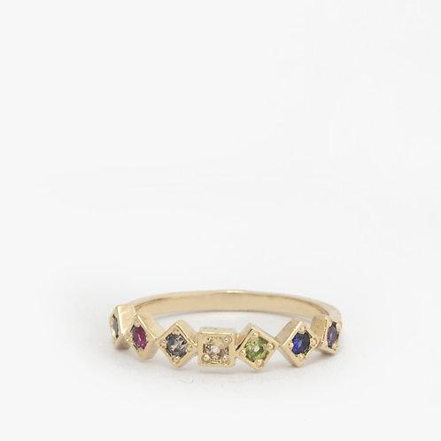 """טבעת """"ריבועים"""" Rainbow"""