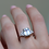 Thumbnail: טבעת אקווה מרין ופרמידה יהלומים