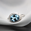 Thumbnail: טבעת מרוקעת אקווה מרין ויהלומים