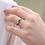 Thumbnail: טבעת מרקיזה אמרלד ויהלומים