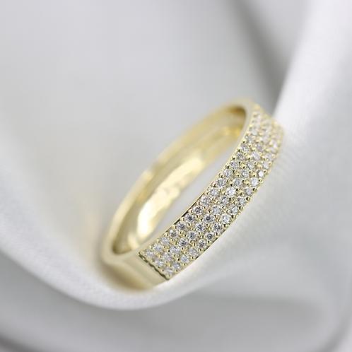 טבעת pavé חצי נצח מוסונייט