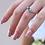 Thumbnail: טבעת בגט אקווה מרין ויהלומים