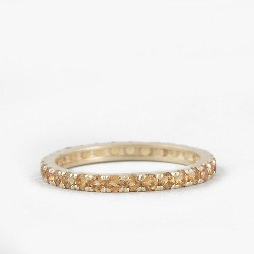 """טבעת נצח טופז צהוב 1.75 מ""""מ"""