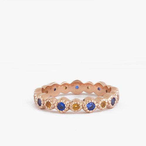 טבעת נצח סיטרין וספיר