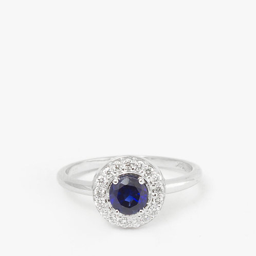 טבעת אטלנטיס ספיר ויהלומים