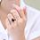 Thumbnail: טבעת ספיר טיפה ויהלומים