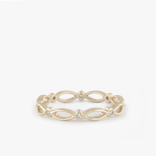 טבעת כתר יהלומים עדינה