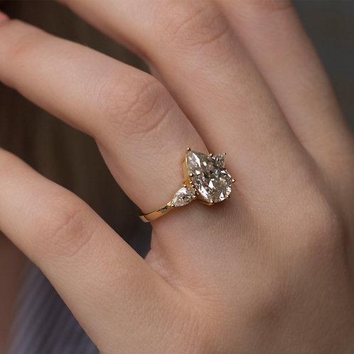 טבעת מוסונייט טיפה