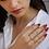 Thumbnail: טבעת מורגנייט 1.45ct ומוסונייט טריליון