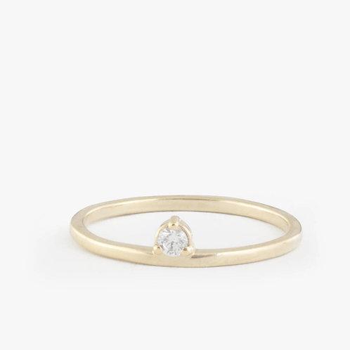 טבעת סינגל יהלום