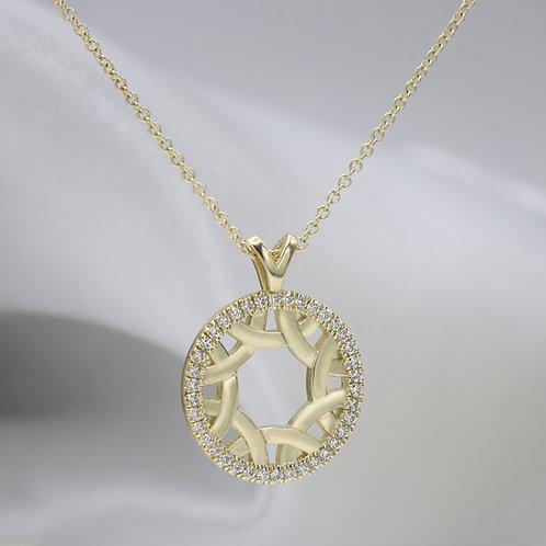 שרשרת יהלומים קלטית ב14 קראט
