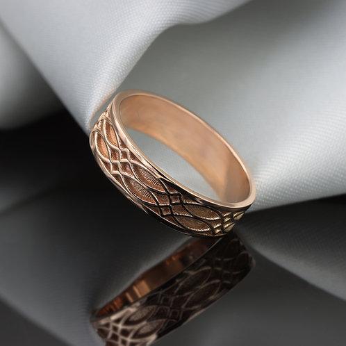 טבעת נישואין קלטית מזהב