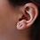 Thumbnail: עגילי וי יהלומים עדין