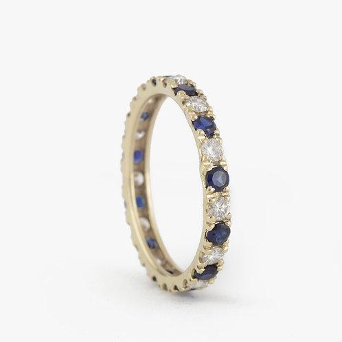 טבעת נצח ספיר-יהלומים