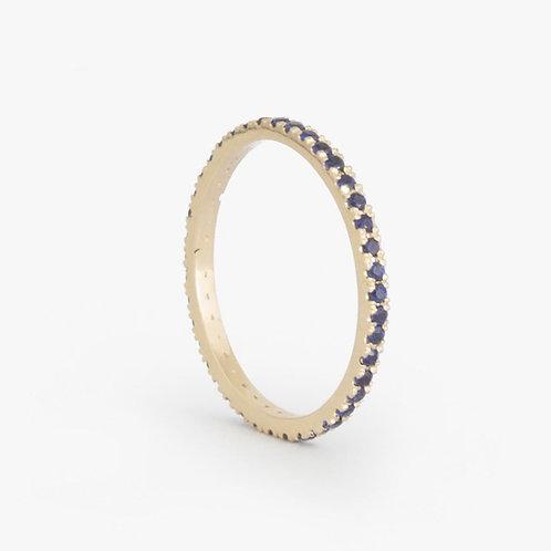 """טבעת נצח עדינה ספיר 1.25 מ""""מ"""