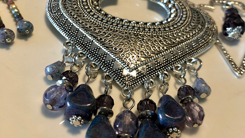 Heart Shaped Amethyst Necklace