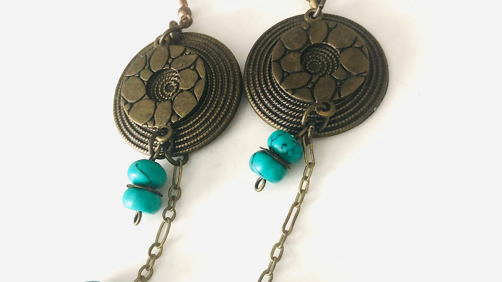 Antique Bronze plated earrings