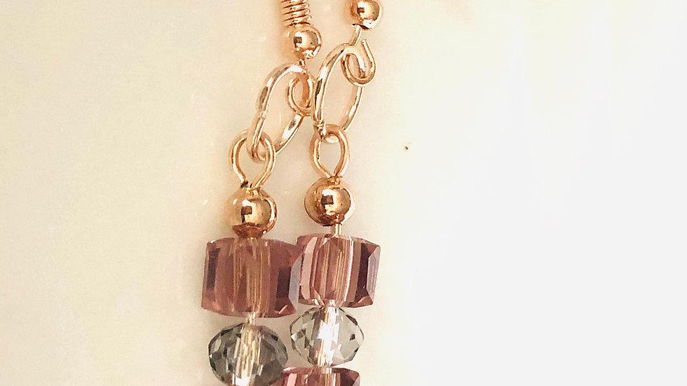 Dustypink earrings