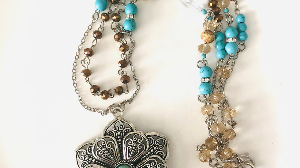 2 layer turquoise Necklace