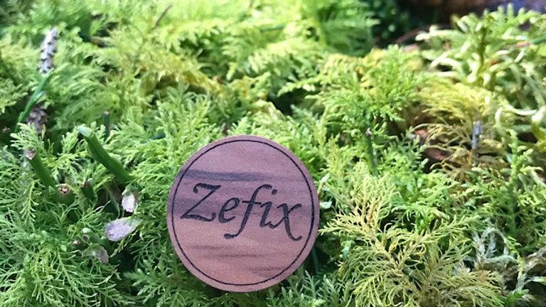 """Edler Holzanstecker, Pin """"ZEFIX"""""""