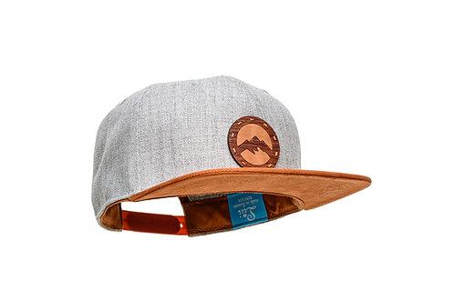 Lui Snapback Cap Berge I Grau/Birne I Wolle / Wildleder