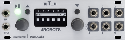 1uT_u 4ROBOTS - 6X Clocks and rhythm generator