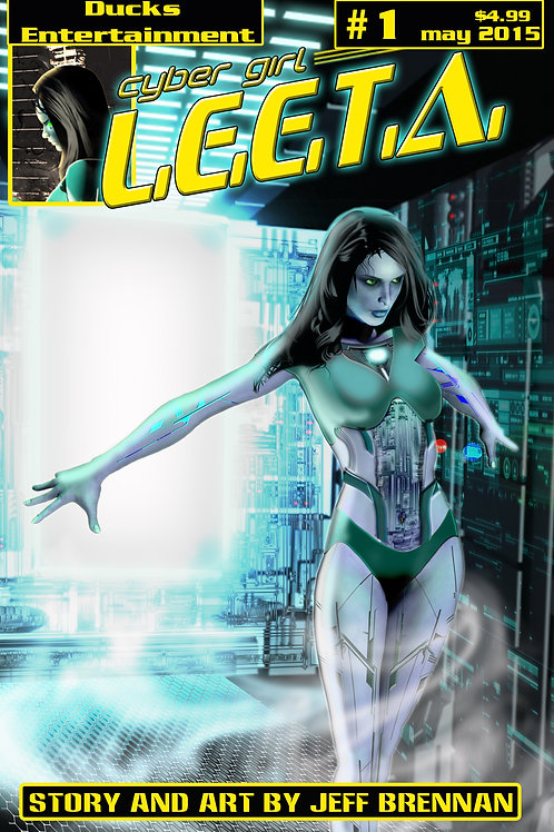 cyber girl L.E.E.T.A. first issue signed