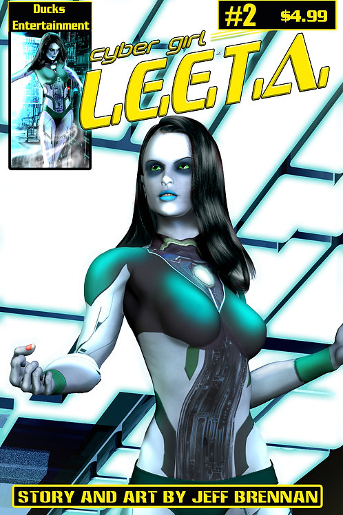 Cyber Girl L.E.E.T.A. ISSUE #2 signed
