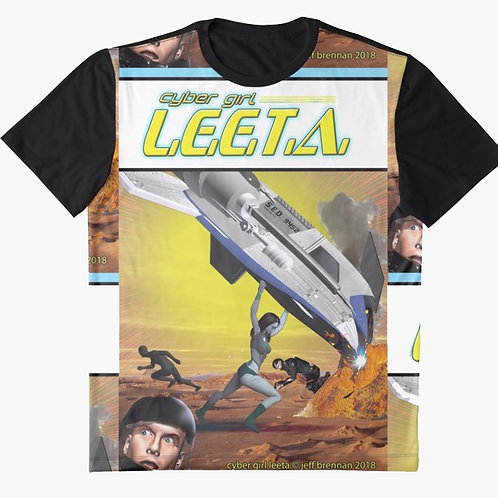 Cyber Girl L.E.E.T.A. action comics homage shirt