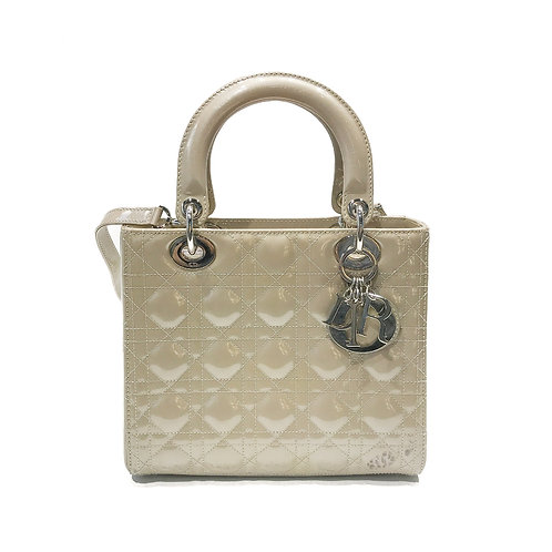 Christian Dior Medium Patent Lady Dior Bag