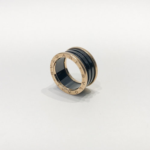 Bvlgari B.zero1 18k Ceramic 4 band Ring