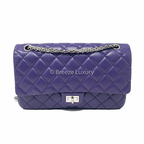 Chanel Purple 2.55 Reissue Quilted Classic Double Flap Bag (Size 226)
