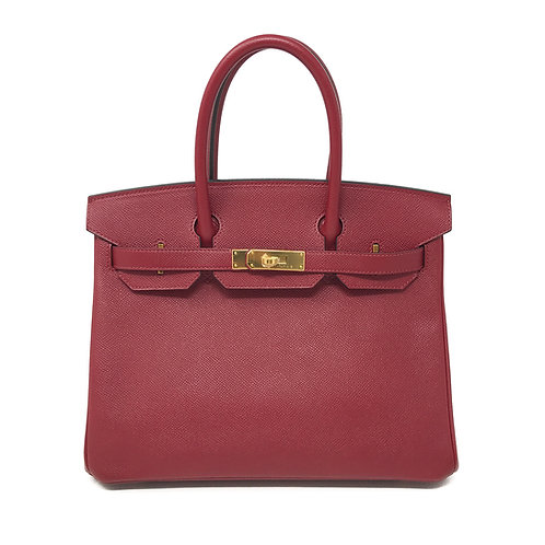 Hermès GHW Rouge Epsom Birkin 30