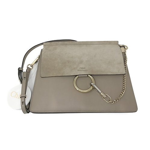 Chloé Faye Medium Suede & Leather Shoulder Bag