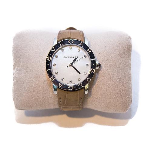 Bvlgari Ladies Automatic Diamond Watch