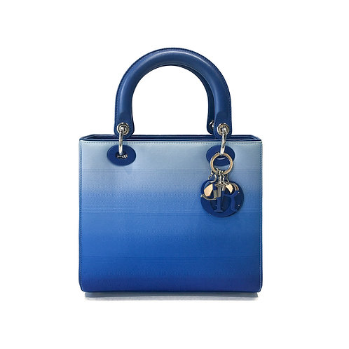 Christian Dior Medium Blue Gradient Lady Dior Bag
